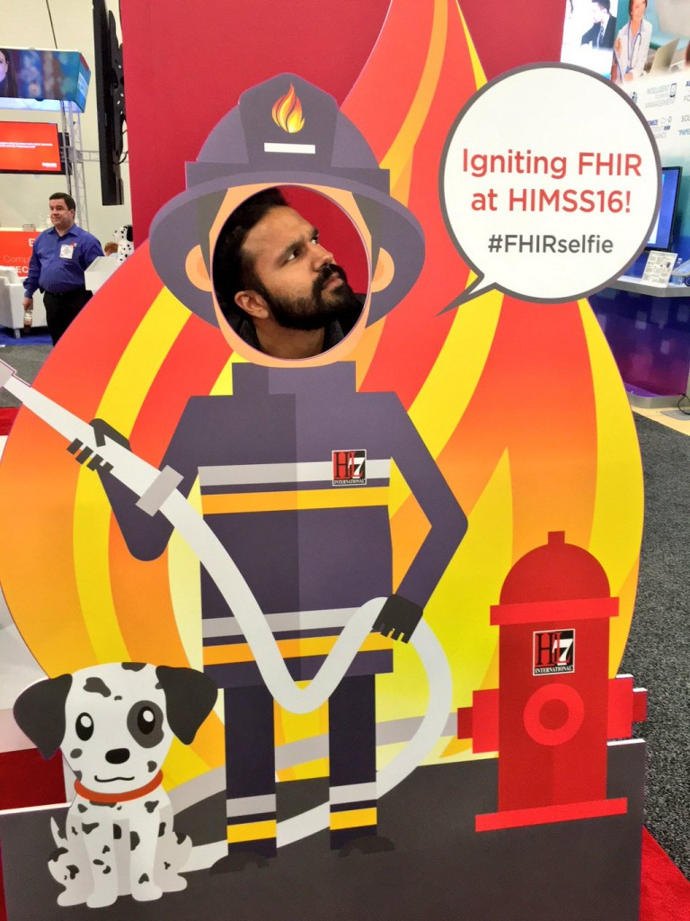 Taimur at HIMSS 2016 talking about FHIR and drchrono